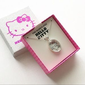 Hello Kitty Fine Silver Plated Shaker Pendant